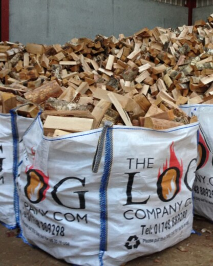 Dumpy Bag of Kiln Dried Hardwood Logs